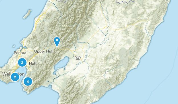 Wellington Region, New Zealand Parks Map