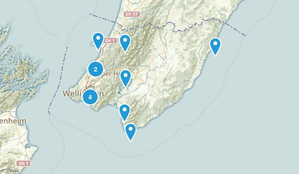 Wellington Region, New Zealand Views Map
