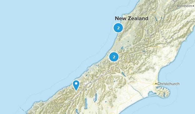 West Coast, New Zealand Camping Map