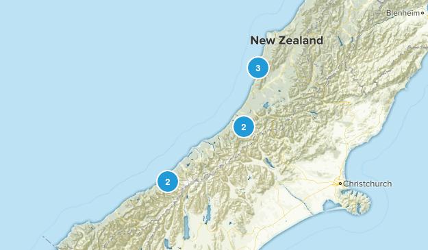 West Coast Region, New Zealand Backpacking Map