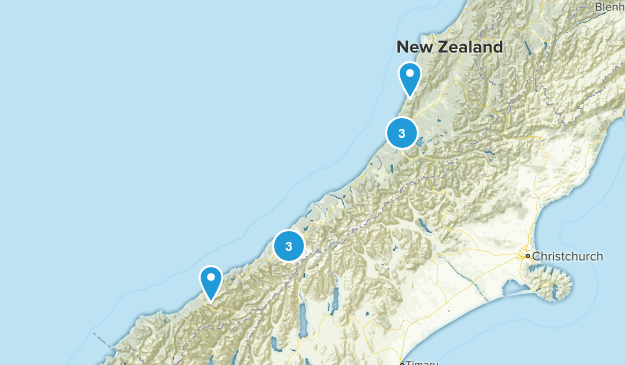 West Coast Region, New Zealand Forest Map