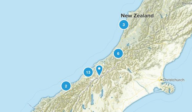 West Coast Region, New Zealand Wildlife Map