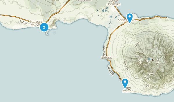 Rivas, Nicaragua Parks Map