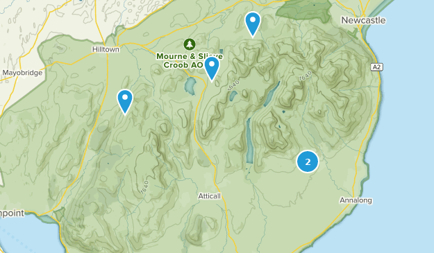 Newry and Mourne, Northern Ireland Hiking Map