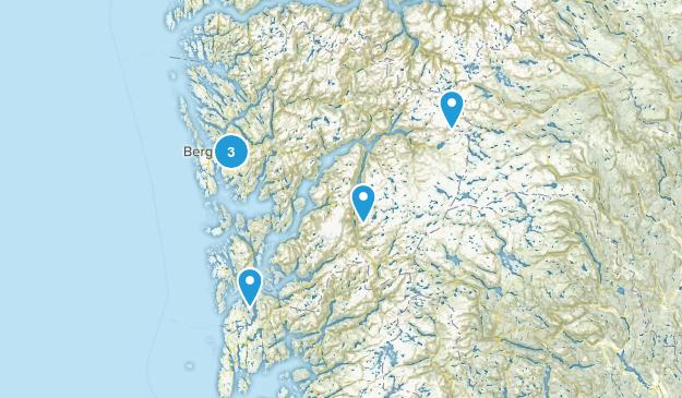 Hordaland, Norway Hiking Map