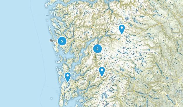 Hordaland, Norway Walking Map