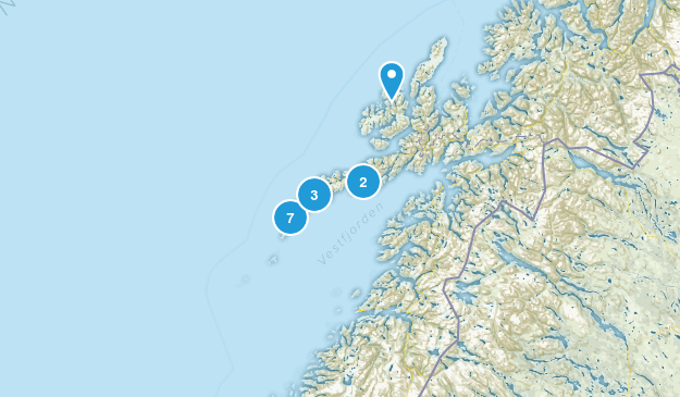 Nordland, Norway Hiking Map