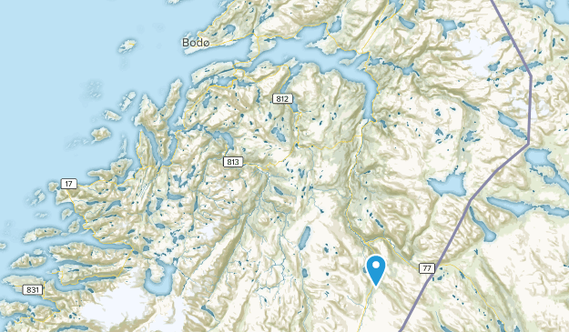 Nordland, Norway Parks Map