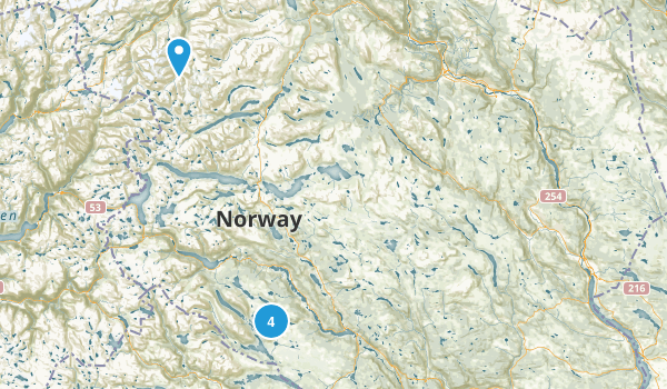 Oppland, Norway Hiking Map