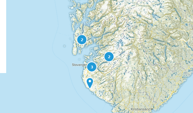 Rogaland, Norway Nature Trips Map