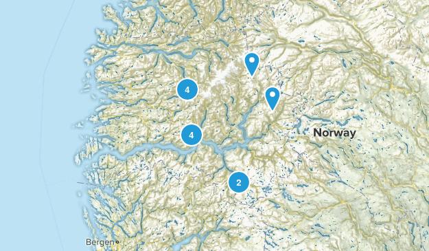Sogn og Fjordane, Norway Hiking Map