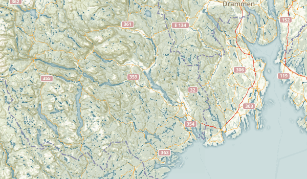 Telemark, Norway Parks Map