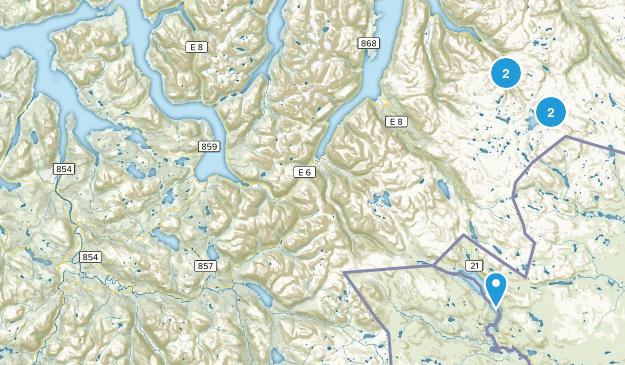 Troms, Norway Hiking Map