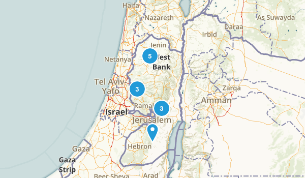 West Bank, Palestine Historic Site Map