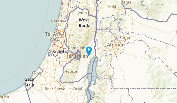 West Bank, Palestine Parks Map