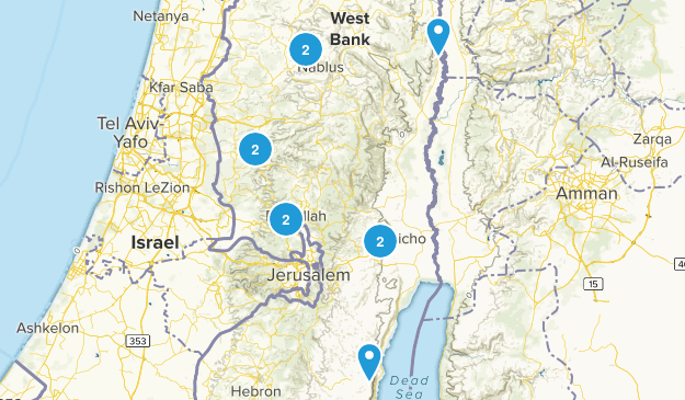 West Bank, Palestine Walking Map