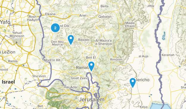 West Bank, Palestine Wildlife Map