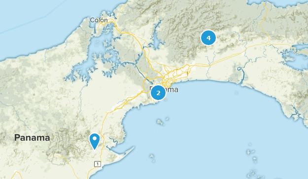 Panama City, Panama Bird Watching Map