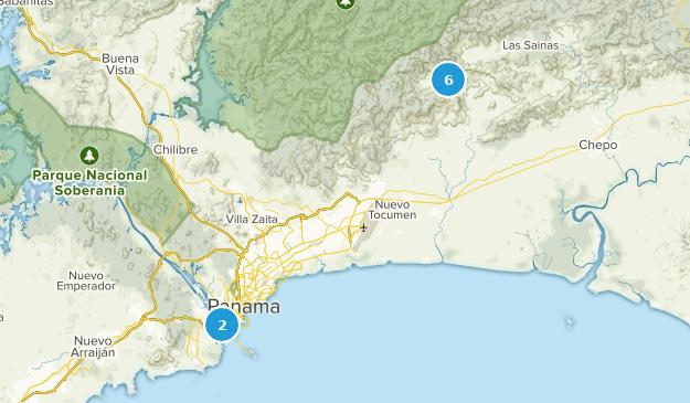Panama City, Panama Nature Trips Map