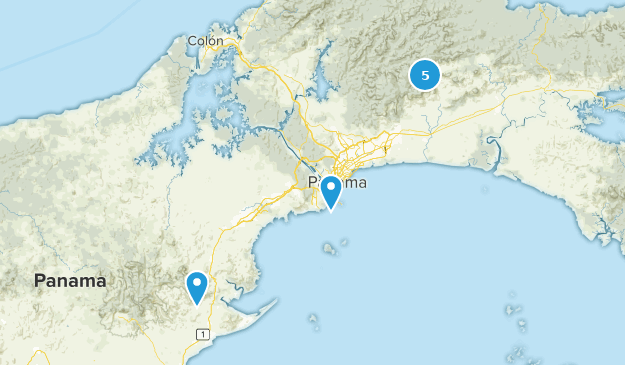 Panama City, Panama Wildlife Map