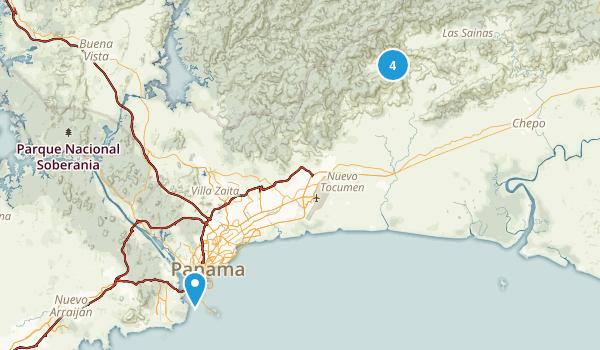 Panama, Panama Hiking Map