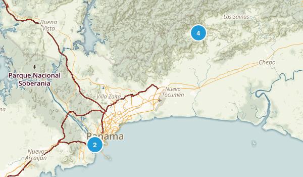 Panama, Panama Nature Trips Map