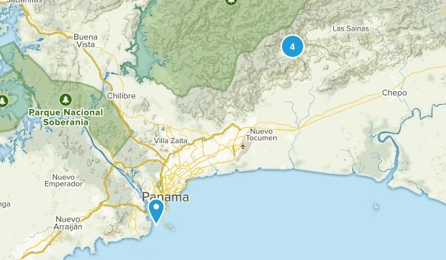 Panama, Panama Wild Flowers Map