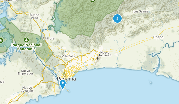Panama, Panama Wildlife Map