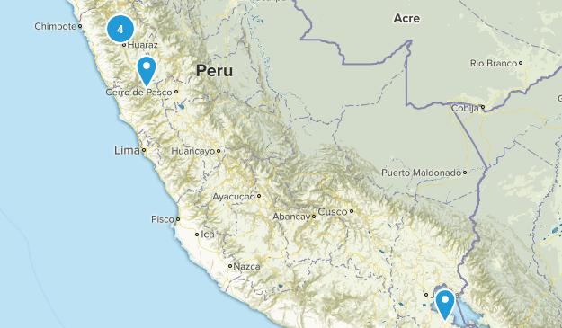 Ancash, Peru Hiking Map