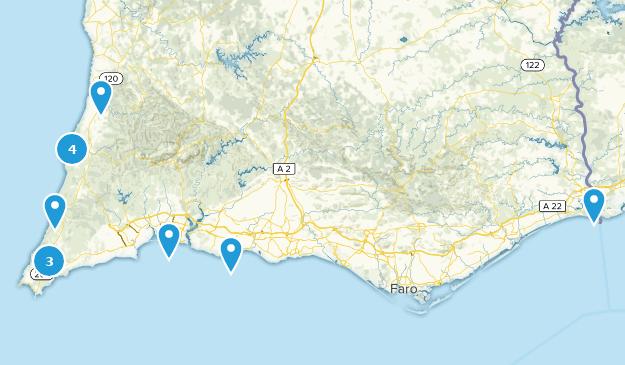 Algarve, Portugal Beach Map