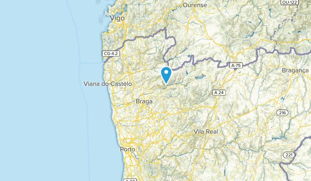 Braga, Portugal Parks Map