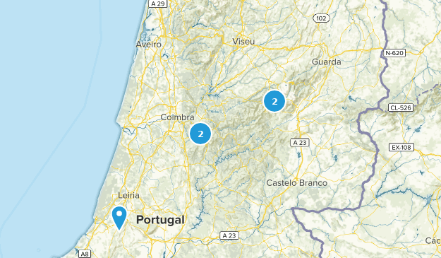 Center Region, Portugal Hiking Map