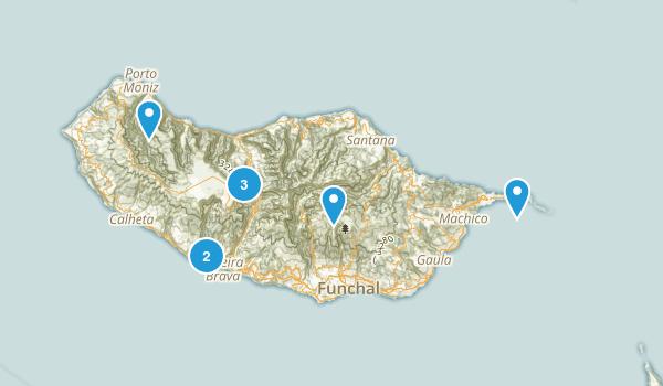 Ilha da Madeira, Portugal Hiking Map