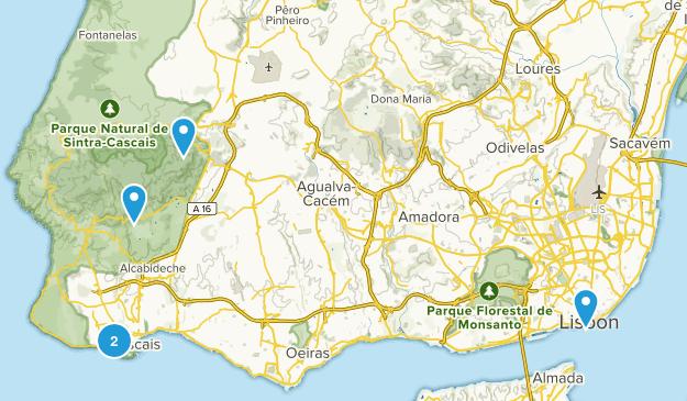 Lisbon, Portugal Hiking Map