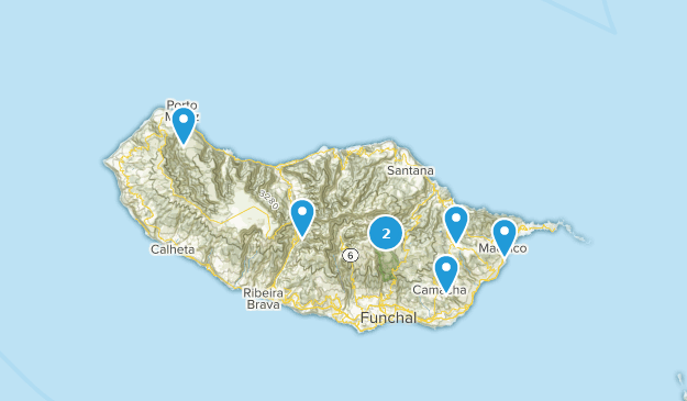 Madeira, Portugal Backpacking Map