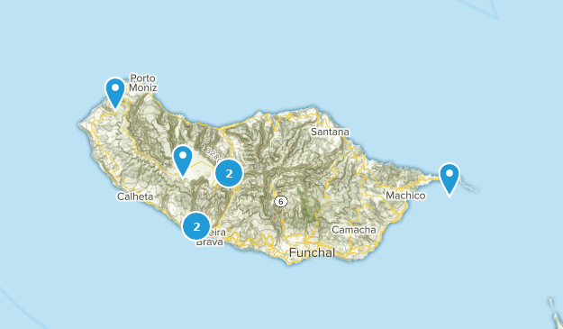 Madeira, Portugal Trail Running Map