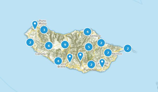 Madeira, Portugal Views Map