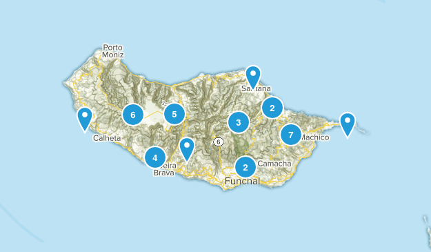 Madeira Island, Portugal Nature Trips Map