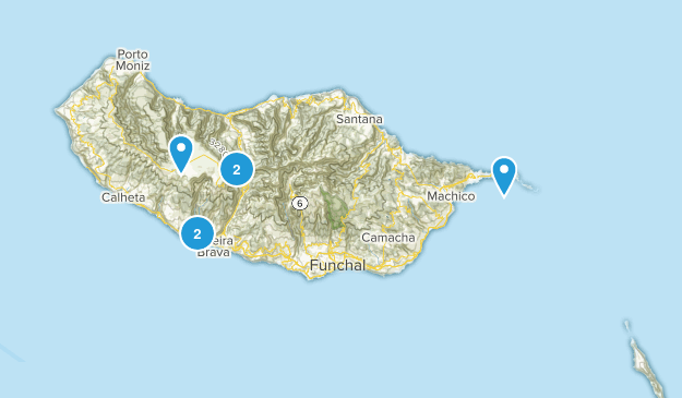 Madeira Island, Portugal Trail Running Map