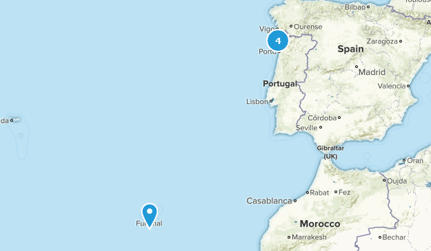Porto and the North, Portugal Backpacking Map