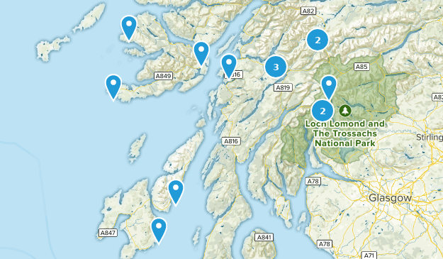 Argyll and Bute, Scotland Nature Trips Map