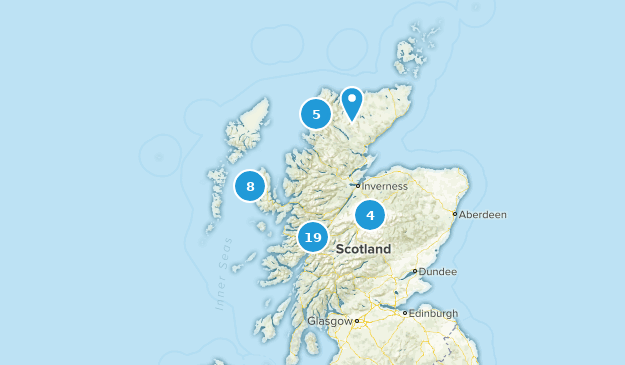 Highland, Scotland Lake Map