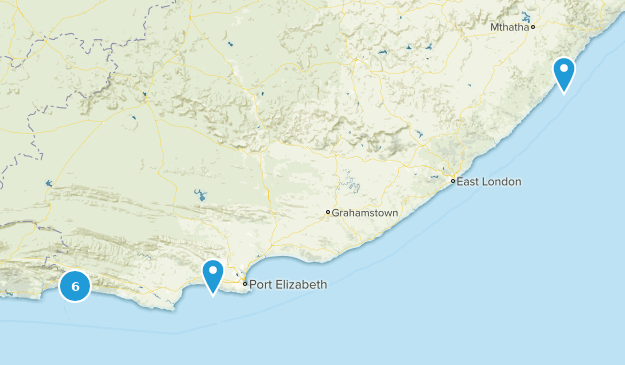 Eastern Cape, South Africa Walking Map