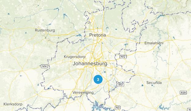 Gauteng, South Africa Parks Map