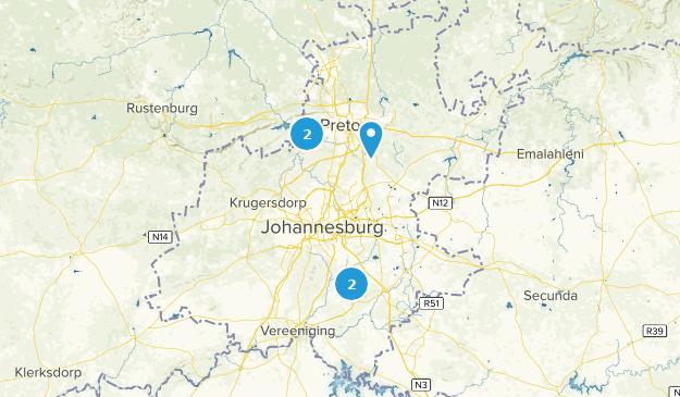 Gauteng, South Africa Wildlife Map