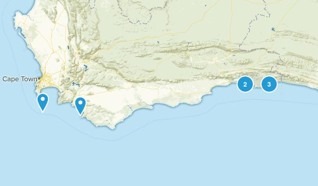 Western Cape, South Africa Beach Map