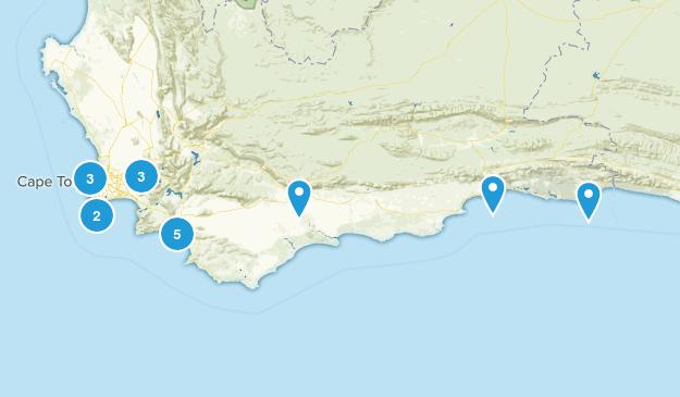 Western Cape, South Africa Birding Map