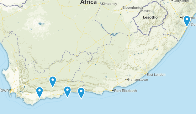 Western Cape, South Africa No Dogs Map