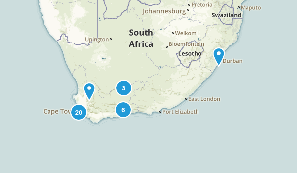 Western Cape, South Africa Hiking Map