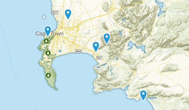 Western Cape, South Africa Mountain Biking Map
